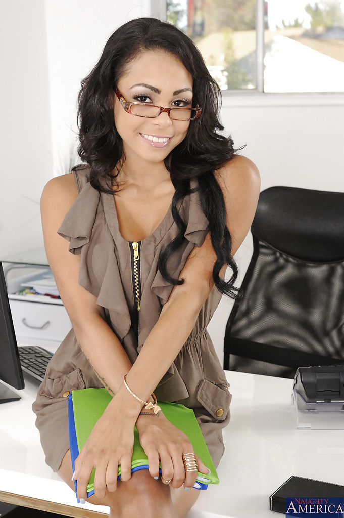 smiley-coed-in-glasses-slowly-uncovering-her-petite-curves